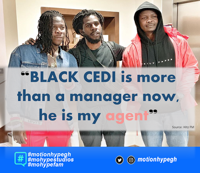 Stonebwoy Unveils New Role for Black Cedi. He Is No More The Manager
