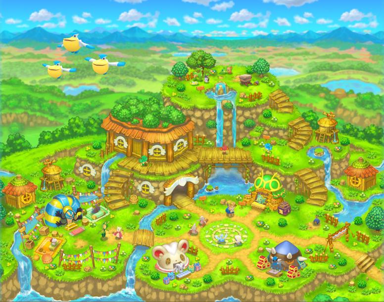 Pokémon Mystery Dungeon Gates to Infinity Post Town