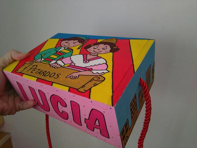 Caja de madera para petardos personalizada el blog de Lorenna