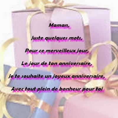 Lettre D Anniversaire Pour Maman