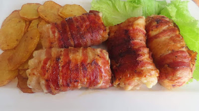 Punjene Pileće Rolice Umotane Pancetom  🔹 Bacon-Wrapped Chicken Breast