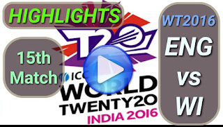 ENG vs WI 15th Match