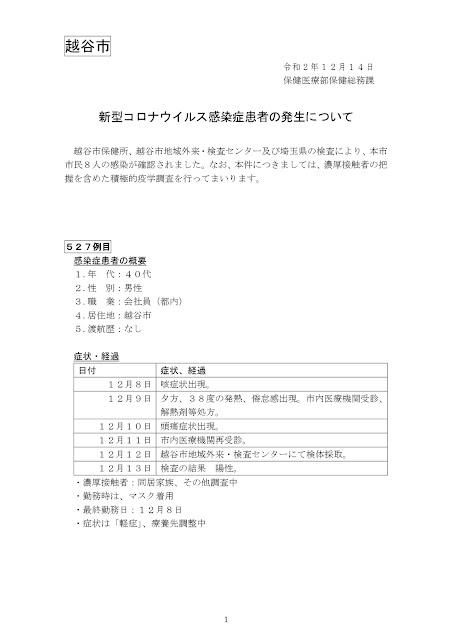 新型コロナウイルス感染症患者の発生について(12月14日発表)