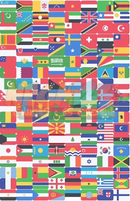 جميع اعلام الدول   All countries flags  PNG