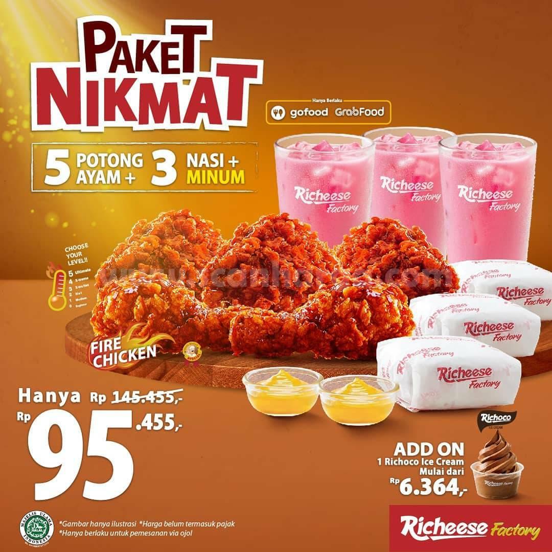 Promo Richeese Factory Paket Nikmat harga hanya Rp 95.455