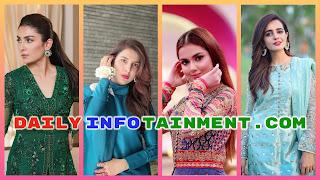 Beautiful Dresses Worn by Pakistani Showbiz celebrities on Eid ul Fitr 2020