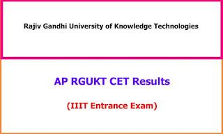 RGUKTCET 2021 Results