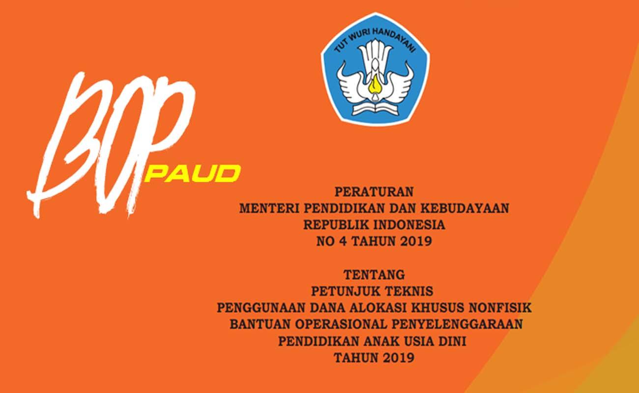 Download Petunjuk Teknis Penggunaan Dana BOP PAUD 2019 Khusus Non Fisik
