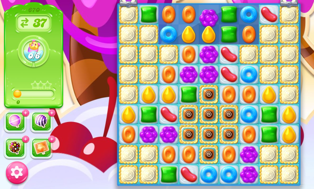Candy Crush Jelly Saga level 670