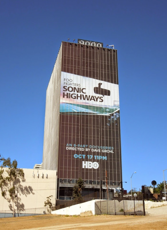 Giant Foo Fighters Sonic Highways billboard
