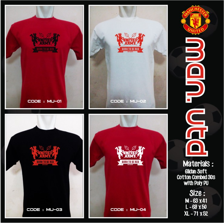 KAOS BOLA FANS MANCHESTER UNITED INDONESIA