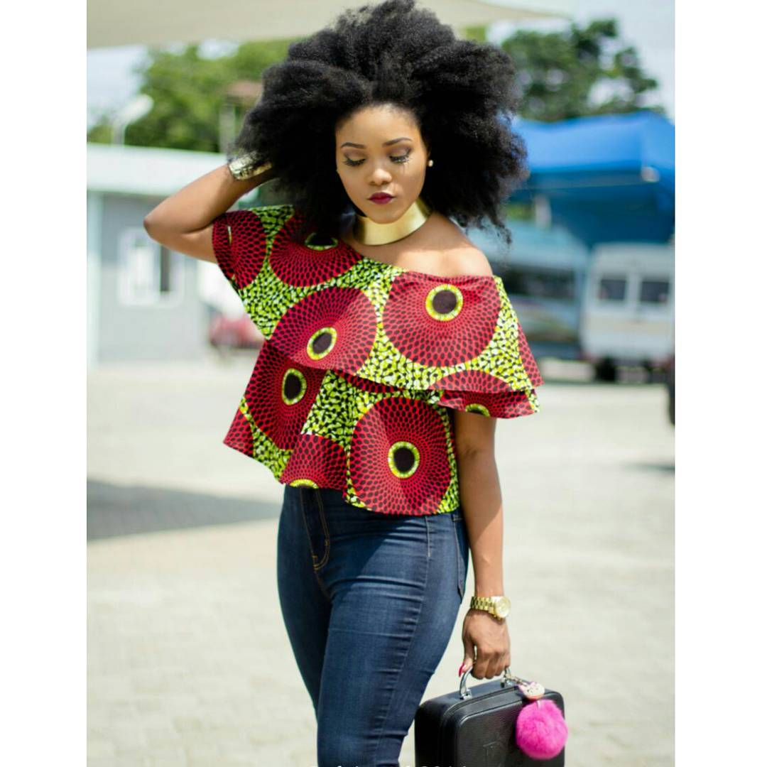 Rock These Best Ankara Top Styles On Jeans