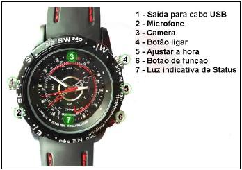 8098686929d Manual de Instruções do relógio espião