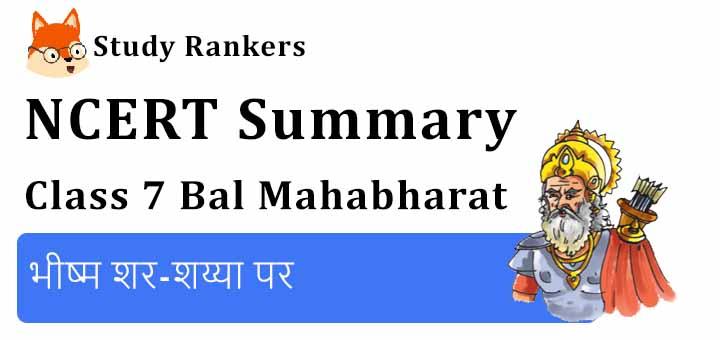 भीष्म शर-शय्या पर Class 7 Hindi Summary Bal Mahabharat