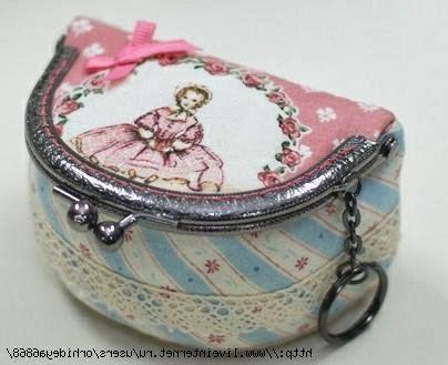 Косметичка с фермуаром. Cosmetic bag clasp