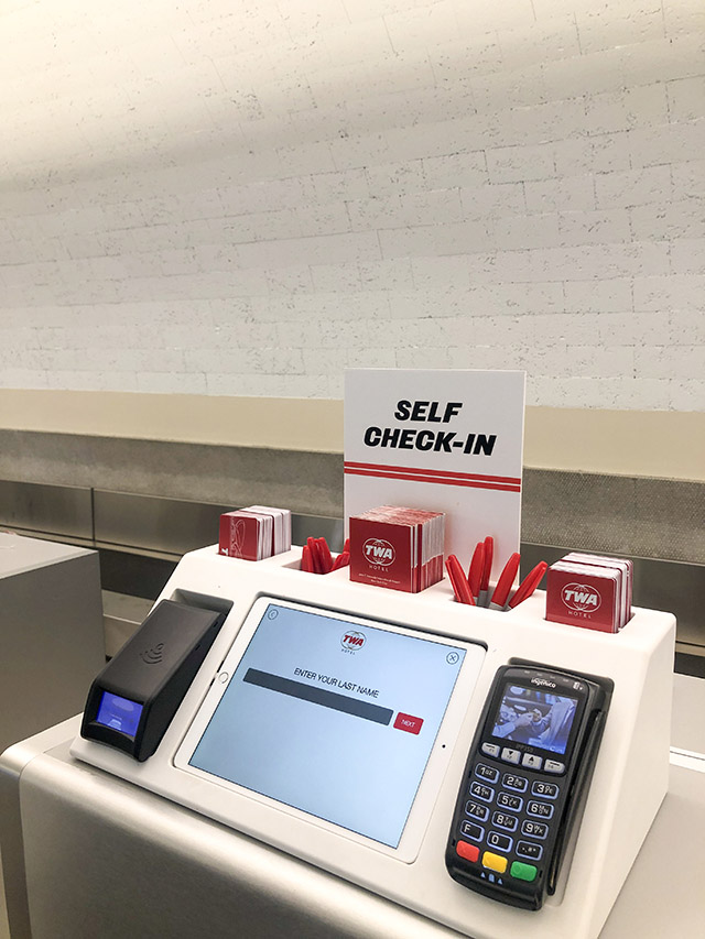 TWA Hotel JFK NYC Self Check In
