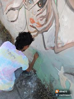 haciendo un mural