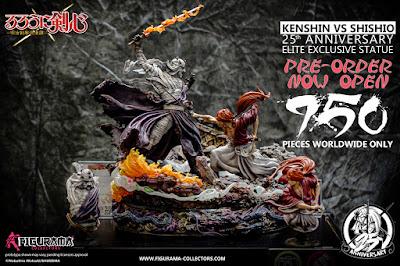 Figuras: Abiertos los Pre-orders de la estatua KENSHIN VS SHISHIO de Figurama Collectors - PROMO CODE: akisamurai