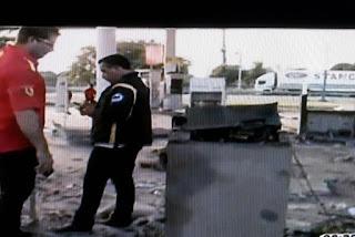 Bandidos explodem cofre e destroem posto de combustível na Paraíba