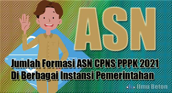 Jumlah Formasi ASN CPNS PPPK 2021 Di Berbagai Instansi Pemerintahan