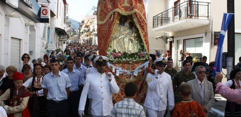 Την Πολιούχο της Παναγία Μυρτιδιώτισσα γιόρτασε η Πύλος
