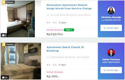 informasi yang dibutuhkan terkait sewa apartemen 99.co Indonesia