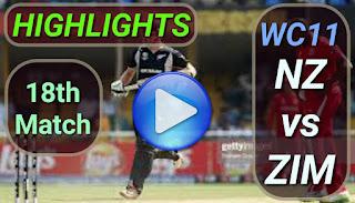 NZ vs ZIM 18th Match