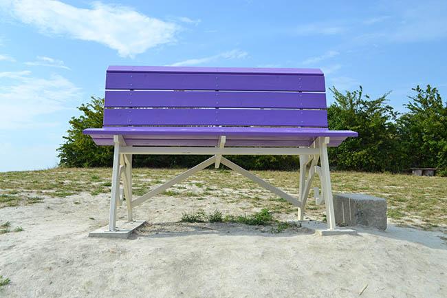 Big bench a Cuccaro color lavanda