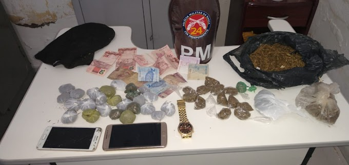 24ª CIPM prende indivíduos por tráfico de entorpecentes em Várzea Nova