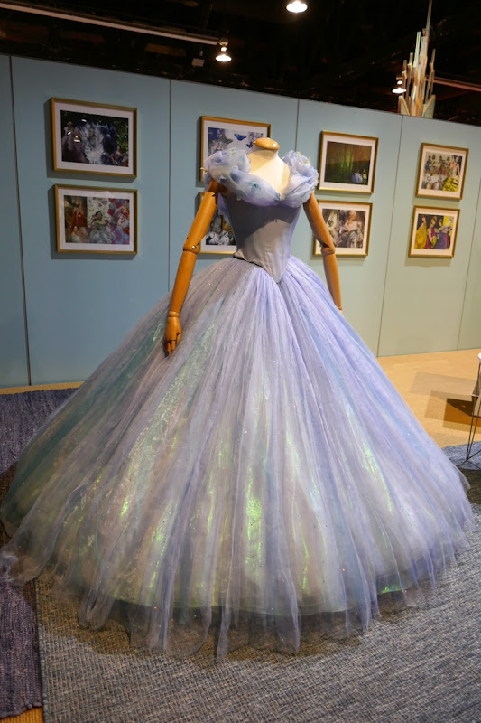 Lily James Cinderella blue ball gown