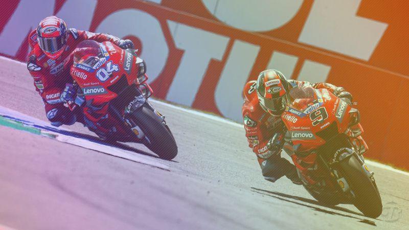 Pembalap Ducati Andrea Dovizioso dan Danilo Petrucci