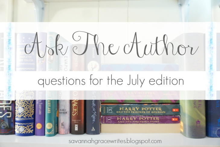Ask The Author - questions for the July edition [post title image]
