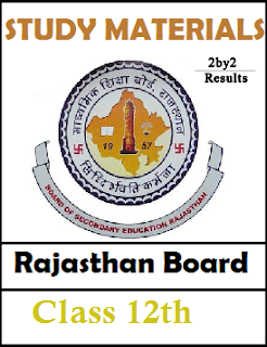 Rajasthan  Board 12th Study Materials for all Subjects - RBSE