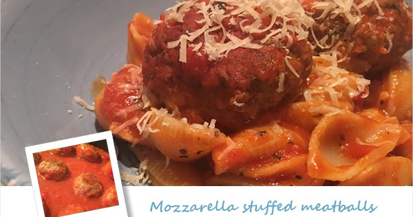 Steph 39 S Kitchen Mozzarella Stuffed Meatballs