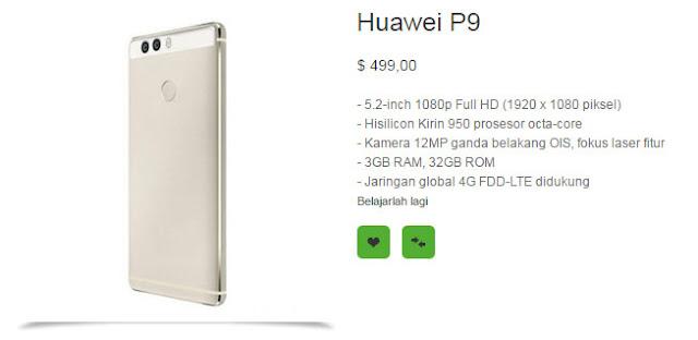 Inilah wujud asli, spesifikasi dan harga Huawei P9