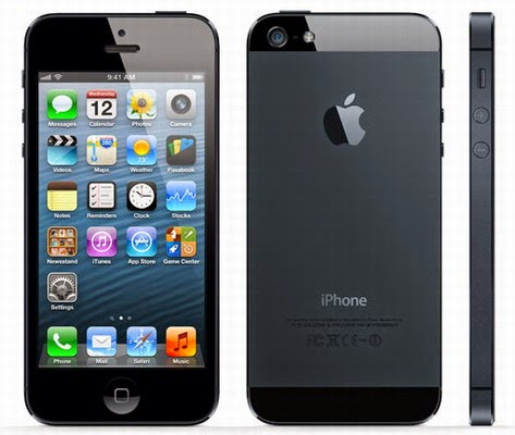 Kini kita akan coba review Apple iphone  Spesifikasi Dan Harga Apple iphone 5 iOS 6 Kamera 8 MP