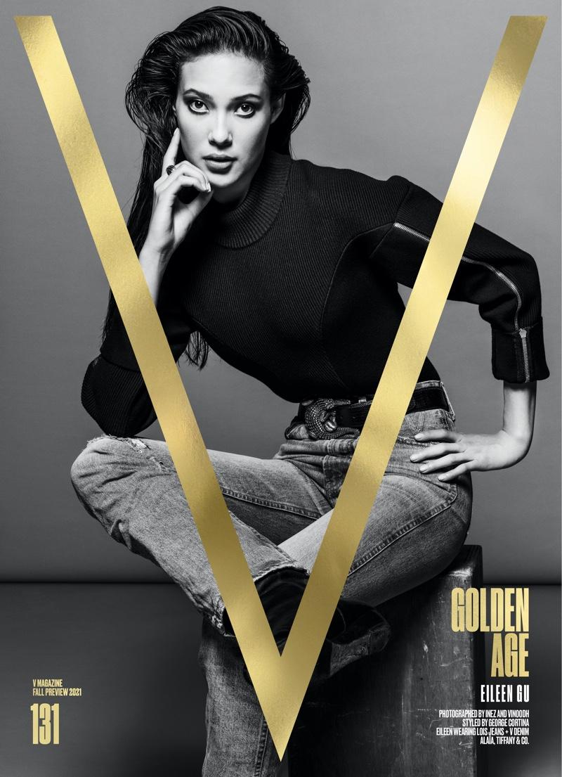 Eileen Gu on V Magazine #131 Pre-Fall 2021 Cover. Image: Courtesy of V Magazine / Inez & Vinoodh