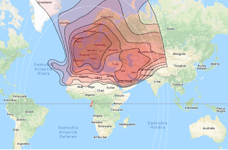 Beam Coverage Satellite Eutelsat 10A 10.0°E KU Band