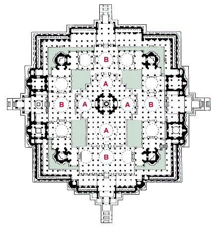 Plan of Ranakpur Jain Temple
