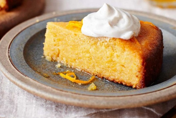 How to make an orange cake without eggs