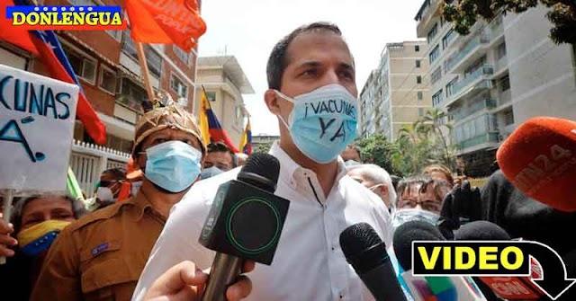 INÉDITO | Guaidó hizo una marcha para solicitarle la vacunación al Régimen