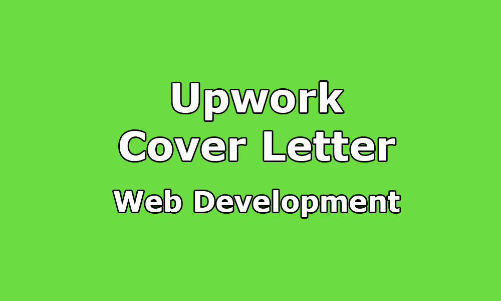 Upwork Cover Letter Sample For Web Developer Upwork Help