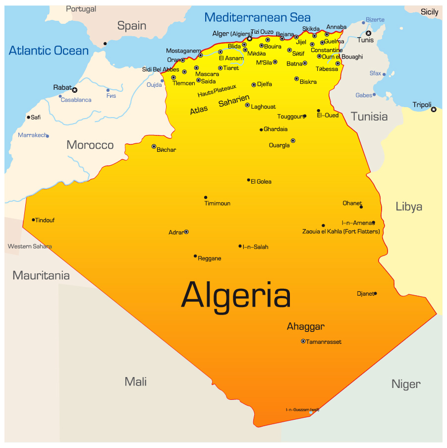 Argelia mapa