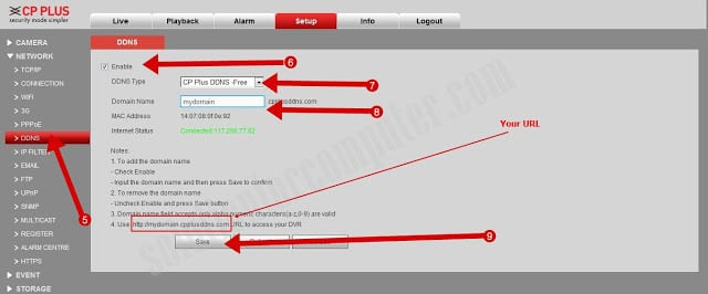 How to configure CP Plus DVR online by CP Plus DDNS