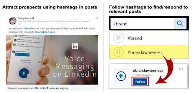 try LinkedIn hashtags