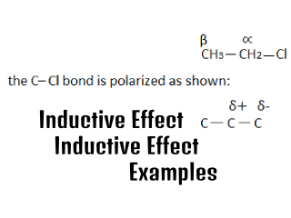 Inductive Effect | Inductive Effect examples |