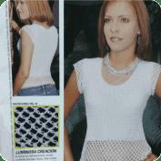 Blusa blanca a Ganchillo