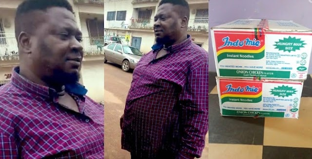 Man returns N1.8 million found inside an indomie carton, promised indomie as a reward(People react)