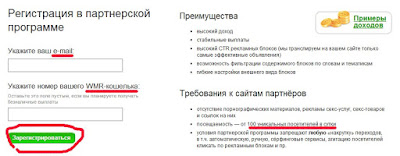 Работа с тизерной сетью Direct/Advert - шаг №2