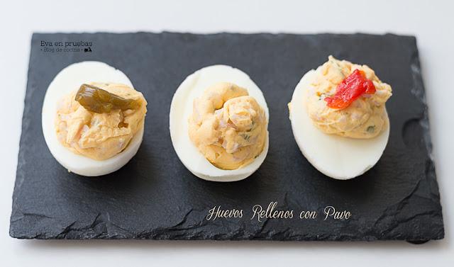 Huevos rellenos con pavo / Eva en pruebas